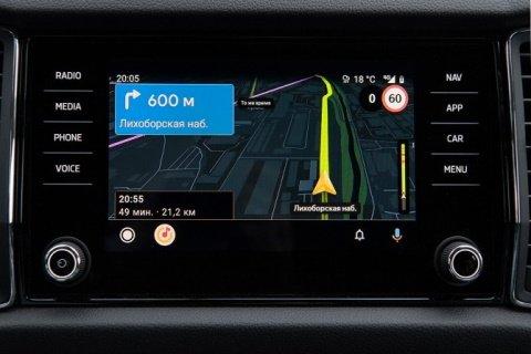 Функционал «Навигатора» и «Яндекс.Карт» уже доступен в авто «Skoda»