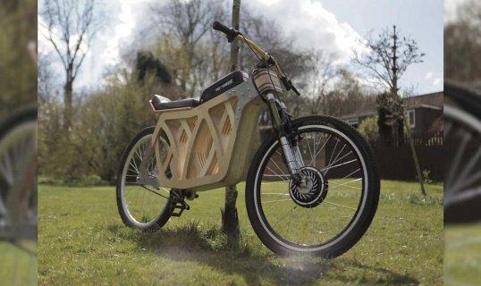 Электровелосипед «Rad» сделан вручную из дерева